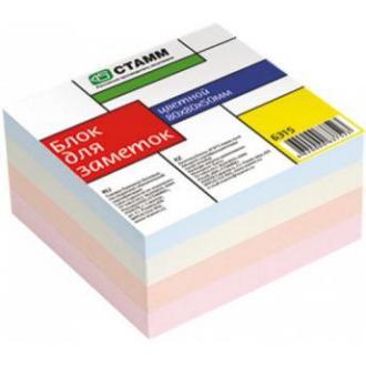 Бумага д/<wbr>заметок СТАММ БЗ 15, 8х8х5 см, цветной (замена к 097-619) - Officedom (1)