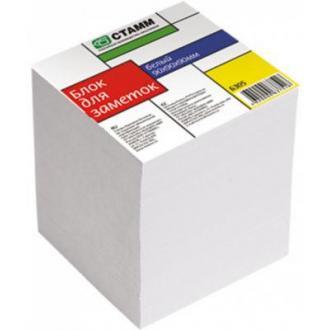 Бумага д/<wbr>заметок СТАММ БЗ 05, 9х9х9 см, сменный блок, белый - Officedom (1)