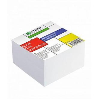 Блок бумаги д/<wbr>заметок СТАММ БЗ 10, 8х8х5 см, проклеенный, белый - Officedom (1)