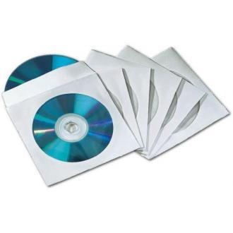 Конверт бумажный для CD-диска с окош.,100шт/<wbr>уп.бел. - Officedom (1)