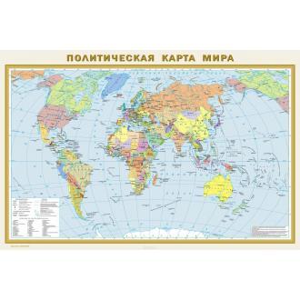 Карта Мира политическая 1х16000, 2х3 м, рус. яз, ламин. - Officedom (1)
