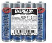 Батарейки Eveready, AA/R6, 4 шт/уп, пленка