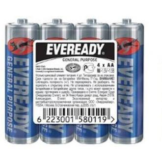 Батарейки Eveready, AA/<wbr>R6, 4 шт/<wbr>уп, пленка - Officedom (1)