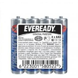 Батарейки Eveready, AAA/<wbr>R03, 4 шт/<wbr>уп, пленка - Officedom (1)