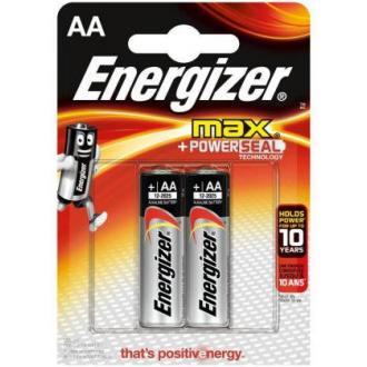 Батарейки Energizer MAX Alkaline, AA/<wbr>LR6, 2 шт/<wbr>уп - Officedom (1)