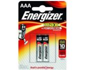 Батарейки Energizer MAX Alkaline, AAA/LR03, 2 шт/уп | OfficeDom.kz