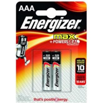 Батарейки Energizer MAX Alkaline, AAA/<wbr>LR03, 2 шт/<wbr>уп - Officedom (1)