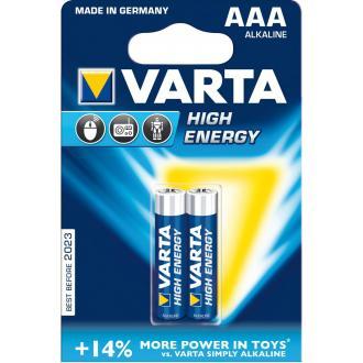 Батарейки Varta High Energy Micro, AAA/<wbr>LR03, 2 шт/<wbr>уп - Officedom (1)