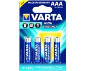 Батарейки Varta High Energy Micro, AAA/LR03, 4 шт/уп