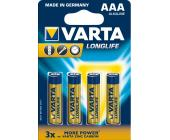 Батарейки Varta Longlife Micro AAA/LR3, 4 шт/уп | OfficeDom.kz