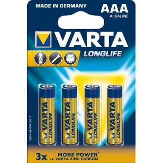 Батарейки Varta Longlife Extra Micro AAA/<wbr>LR3, 4 шт/<wbr>уп - Officedom (1)