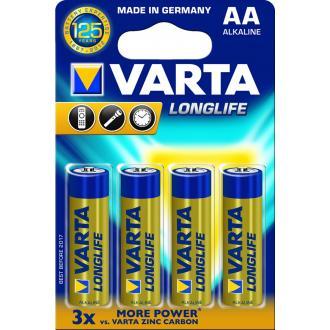 Батарейки Varta Longlife Extra Mignon AA/<wbr>LR6, 4 шт/<wbr>уп - Officedom (1)