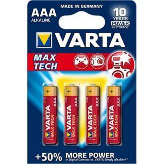 Батарейки Varta Max Tech Micro, AAA/<wbr>LR3, 4 шт/<wbr>уп - Officedom (1)