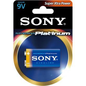 Батарейка Sony Platinum, 6LR61, 9V, Крона, 1шт/<wbr>уп. - Officedom (1)