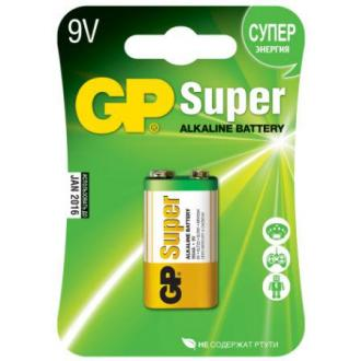 Батарейки GP Super Alkaline 1604A, 9V, 1 шт/<wbr>уп - Officedom (1)