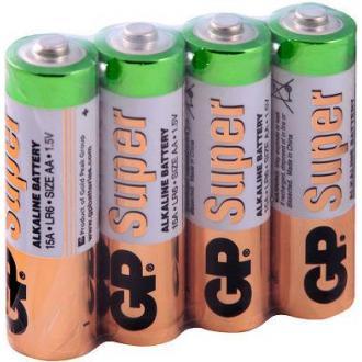 Батарейки GP Super Alkaline, AA/<wbr>LR6, 4 шт/<wbr>уп, пленка - Officedom (1)