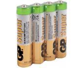 Батарейки GP Super Alkaline, AAA/LR3, 4 шт/уп, пленка | OfficeDom.kz