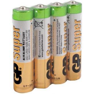 Батарейки GP Super Alkaline, AAA/<wbr>LR3, 4 шт/<wbr>уп, пленка - Officedom (1)