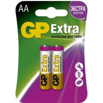 Батарейки GP Extra Alkaline, AA/<wbr>LR6, 2 шт/<wbr>уп - Officedom (1)