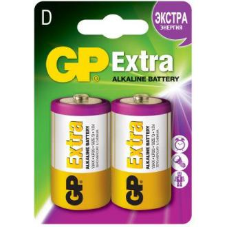 Батарейки GP Extra Alkaline 13AX, D, 2 шт/<wbr>уп - Officedom (1)