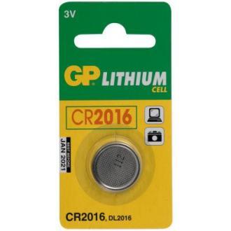 Батарейки GP Lithium CR2016, 3V, 1 шт/<wbr>уп - Officedom (1)