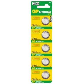 Батарейки GP Lithium CR2025, 3V, 5 шт/<wbr>уп - Officedom (1)