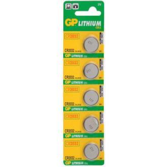 Батарейки GP Lithium CR2032, 3V, 5 шт/<wbr>уп - Officedom (1)