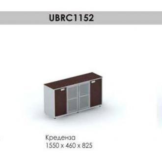 Креденза Brighton UBRC1152, 1550*460*825, венге/<wbr>алюминий - Officedom (1)