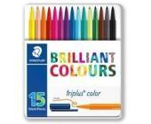 Фломастеры Triplus color 15 шт в мет. боксе | OfficeDom.kz