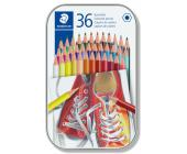 Staedtler Набор цветных карандашей 36 шт в металл. коробке   OfficeDom.kz