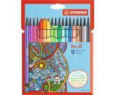 Фломастеры STABILO Pen 68 18 штук | OfficeDom.kz