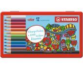 Карандаши цветные STABILO color (12шт) в металлической коробке | OfficeDom.kz