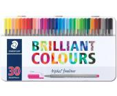 Ручки Fineliner 30 штук в мет. боксе | OfficeDom.kz
