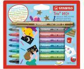 Фломастеры Stabilo Trio Deco, 8 цветов (377/8) | OfficeDom.kz