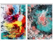 "Блокнот на спирали ""Цветовые разводы"", А5, 60 л., клетка (9625/2-EAC) | OfficeDom.kz"