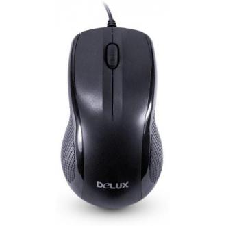 Мышь компьютерная Delux DLM-388OUB, USB, черный - Officedom (1)