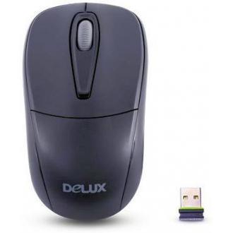 Мышь компьютерная беспроводная Delux DLM-105OGB, USB, 1000 dp, черный - Officedom (1)