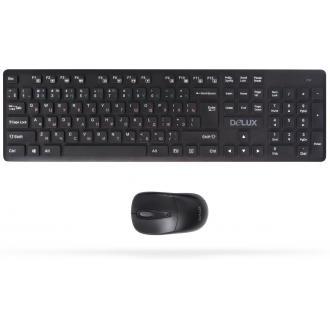 Беспроводной набор Delux DLD-1505OGB, USB, черный - Officedom (1)