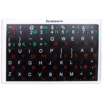Наклейки на клавиатуру, черн. основа, рус/<wbr>англ/<wbr>каз алфавит - Officedom (1)