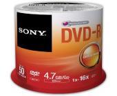Диск записываемый DVD-R Sony, 16X4.7GB, 50шт/упак. | OfficeDom.kz