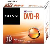 Диск записываемый DVD-R Sony, 16X4.7GB, Slim | OfficeDom.kz