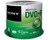 Диск записываемый DVD+R Sony, 16X4.7GB, 50шт/упак. | OfficeDom.kz