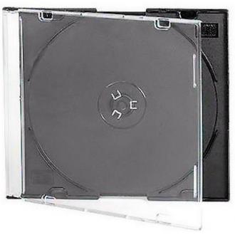 Коробочка Slim для CD/<wbr>DVD диска, черный - Officedom (1)