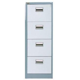 Картотечный шкаф President FC04, 4 ящ, серый - Officedom (1)