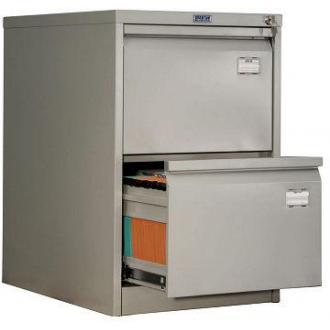 Картотечный шкаф Практик AFC02, 2 ящ, серый - Officedom (1)
