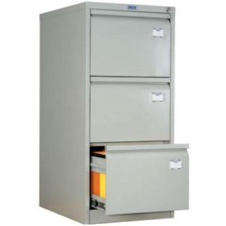 Картотечный шкаф Практик AFC03, 3 ящ, серый - Officedom (1)