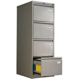Картотечный шкаф Практик AFC04, 4 ящ, серый - Officedom (1)