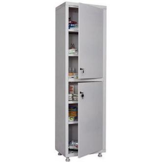 Шкаф металлический медицинский Hilfe 1650/<wbr>SS, 1655х500х320 мм, 4 полки, метал. двери, 24 кг, белый - Officedom (1)