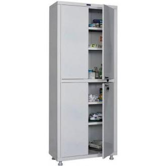 Шкаф металлический медицинский Hilfe 1670/<wbr>SS, 1655х700х320 мм, 4 полки, метал. двери, 32 кг, белый - Officedom (1)