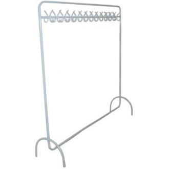 Вешалка напольная гардеробная с крючками, черный - Officedom (1)
